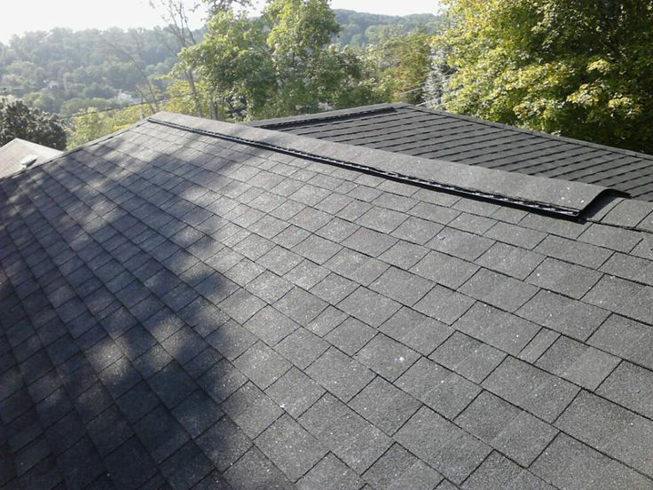 what does a ridge vent on a roof look like This is what