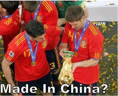 Où est fabriquée la coupe du Monde ?