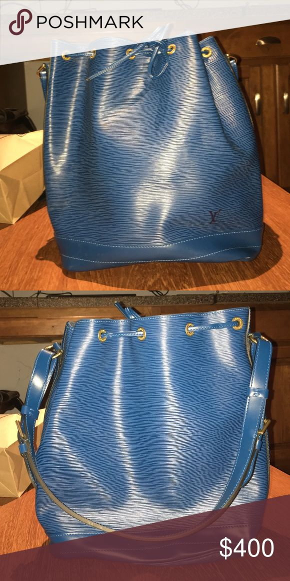 Louis Vuitton Bag Blue like-new Louis Vuitton bucket bag Louis Vuitton Bags