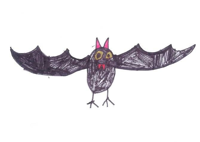 A different type of romanian artist - a little one - a 7-year-old boy named Albert, drew this little bat with inverted wings and now it will be turned into a plushy toy by IKEA of Sweden AB.  Obviously everyone in romania knows about bats since Dracula lives here <3