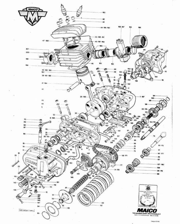 engine schematic poster