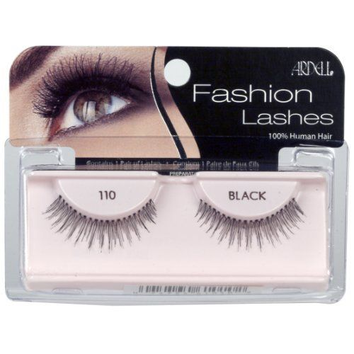 Ardell Fashion Lashes Pair - 110 Demi Lashes (Pack of 4) by Ardell. $10.20. May be re-used up to three weeks. Comfortable to wear. 100% Human Hair. Stay secure until you take them off. Easy to apply. Ardell fashion lashes look so real, so natural that others think you were born with beautiful, lush eyelashes.  made of 100% sterilized human hair, each lash strip is knotted and feathered by hand to achieve the highest quality.  when used with ardell lashgrip eyelash...