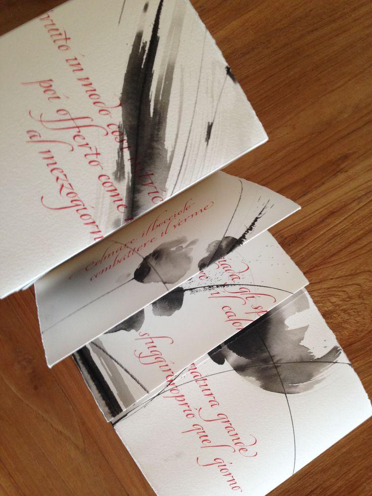 Gisella Bondiani - calligraphy - Artist book