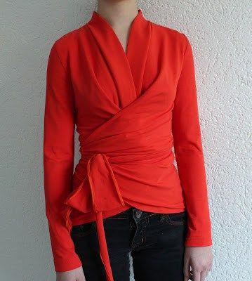 FREE wrap top sewing pattern