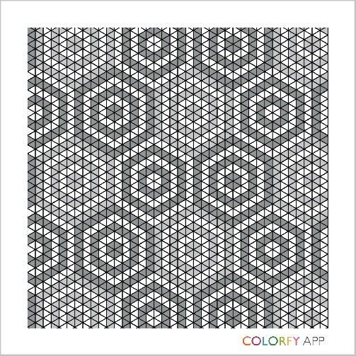 Colorfy Colorfyapp Patterns Quilt App Shadesofgray Tiles Mosaic