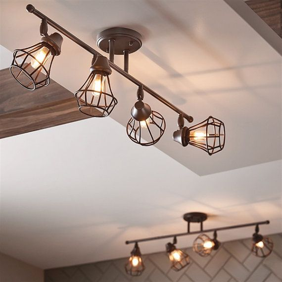 Industrial lighting olde bronze finish by HomeImprovementShop