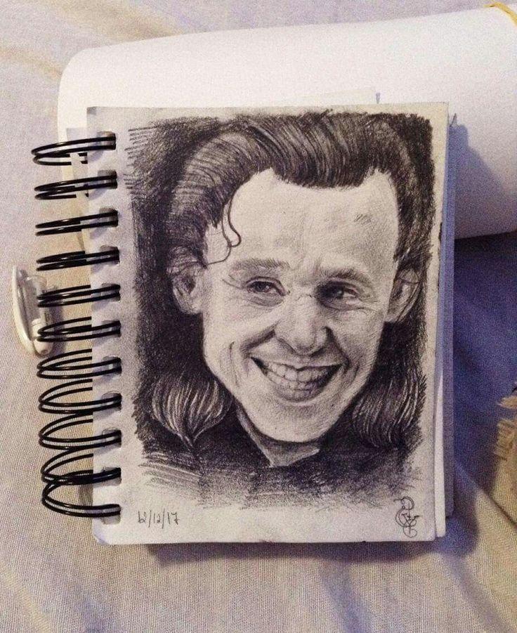 Loki portrait A6 Study portraits #1