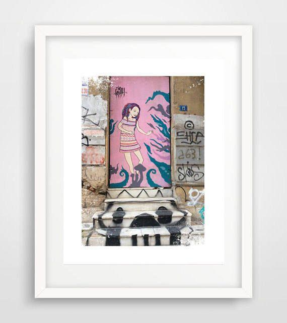 Urban art, graffiti artists, Athens Greece, graffiti art print, street art, feminist street art, women on graffiti art, modern wall art by Ikonolexi on Etsy