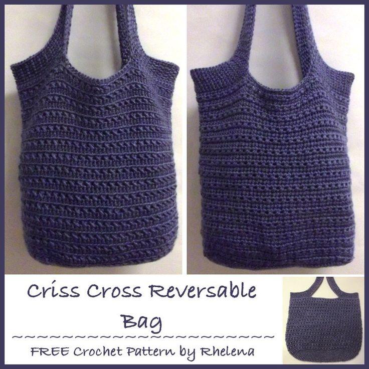 Criss-Cross Reversible Bag ~ FREE Crochet Pattern