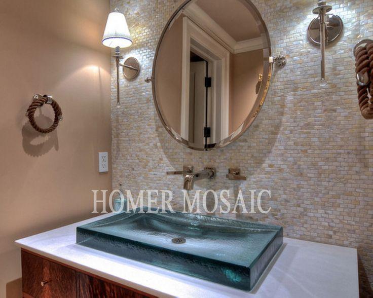 Mosaic Tiles, Natural Mother Of Pearl Mosaic Tiles, Kitchen Backsplash  Tiles, Shower Panel