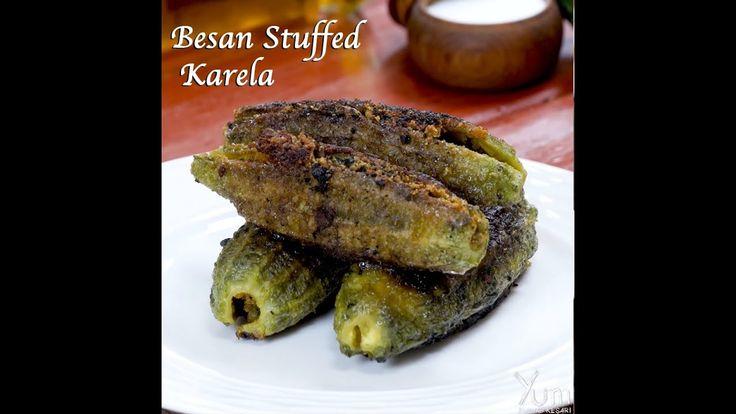 Besan stuffed karela | besan stuffed karela recipe | bharwa karela with ...