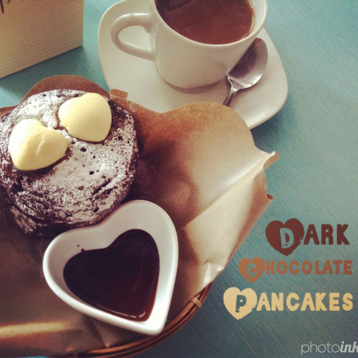 Chocolate pancake with butter
