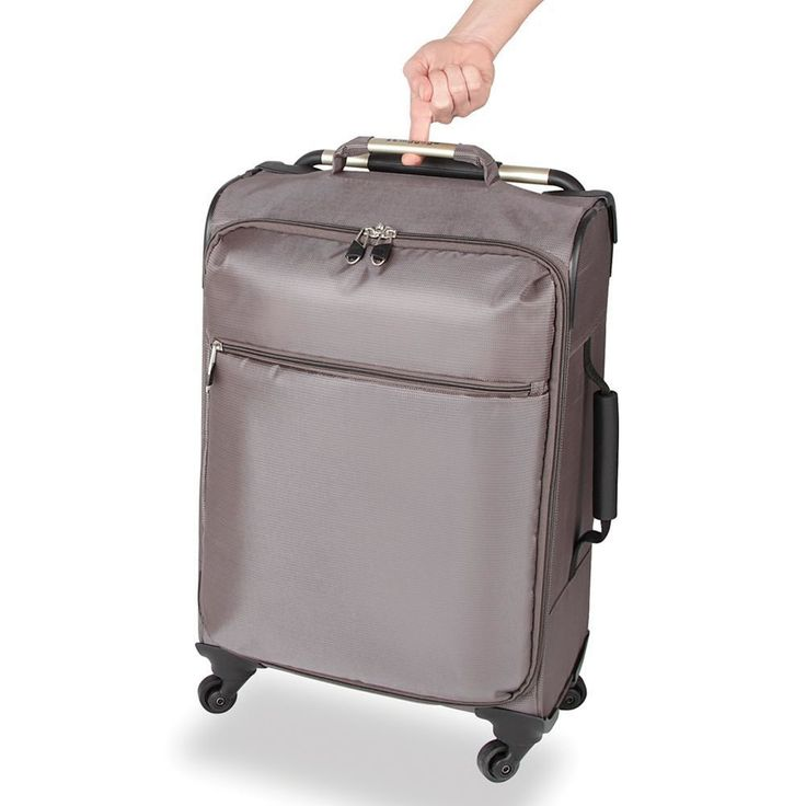 """The World's Lightest Suitcase $199.95 - too pricey This is the world's lightest suitcase, tipping the scales at a mere 5.29 pounds. The Flyweight of luggage, it weighs 66% less than most bags of its size, 31 1/2"""" L x 18 1/4"""" W x 10 1/4"""" D. (5 1/4 lbs.) Black or Beige."""