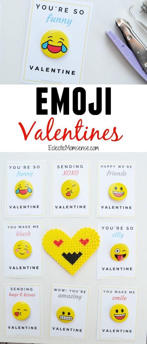 Printable Emoji Valentine- 2 versions for a fun valentine card!