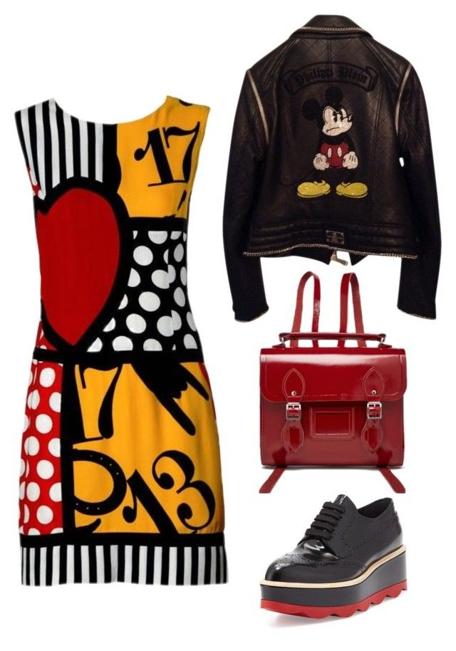 """Untitled #5"" by christie-devina on Polyvore featuring Moschino, The Cambridge Satchel Company, Philipp Plein and Prada"