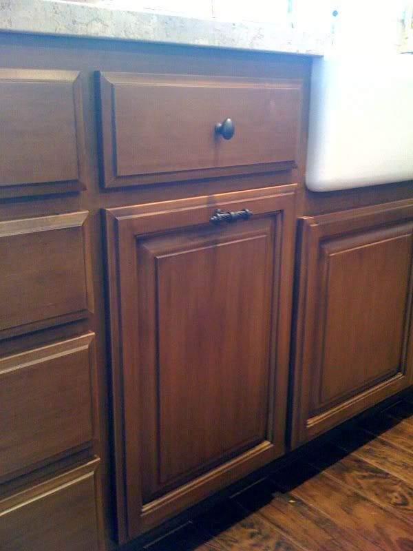 cabinet handle placement