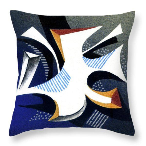 Throw Pillow featuring the painting Abstract_1 by Rupam Shah