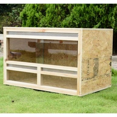 Buy Reptile Vivarium Natural Wood Large |Homcom
