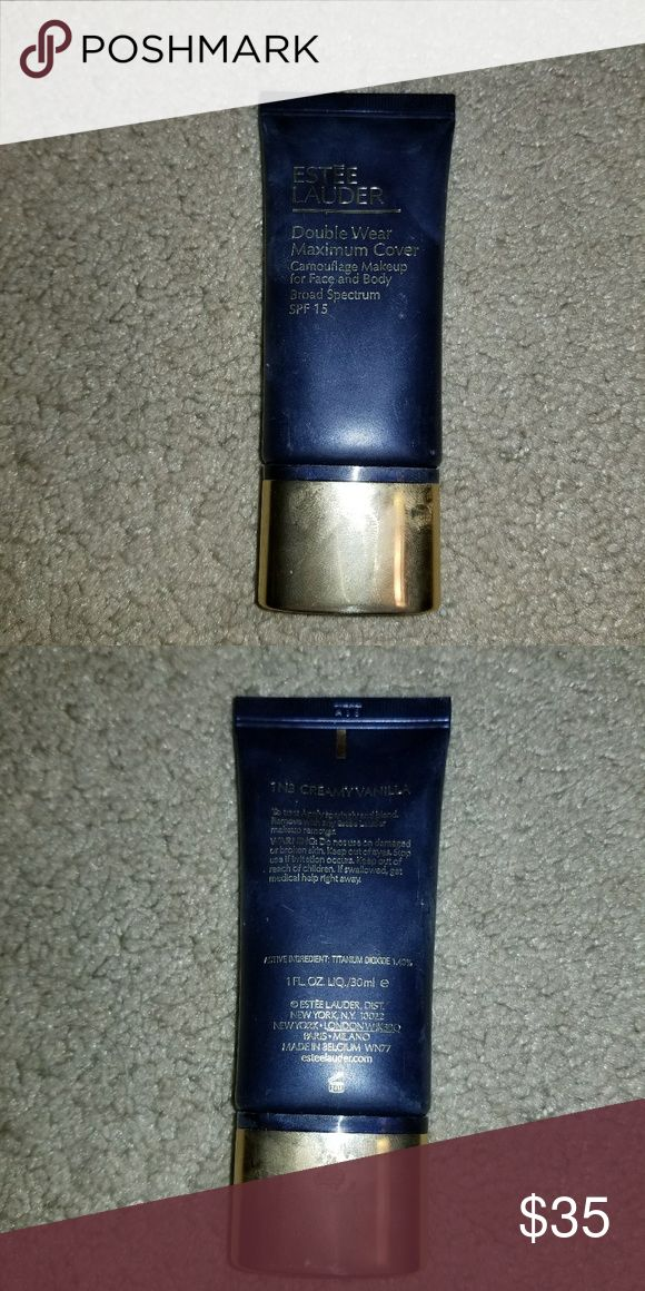 Estee Lauder Foundation Estee Lauder Double Wear Foundation in 1N3 Creamy Vanilla. Full coverage, camouflages any imperfectuons. Used 2 times. A little goes a long way. No swaps. All sales final Estee Lauder Makeup Foundation