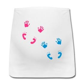 Zwanger van een tweeling? Buikband van Mamashirts.  Pregnant with twins? Belly band from Mamashirts.