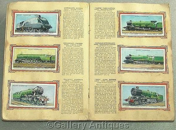 Vintage Railway Engines Full Set of 50 Cigarette Cards in Original Album by W. D. & H. O. Wills Issued in 1936 #followvintage
