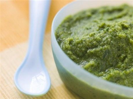 Суп-пюре из брокколи и лука-порея
