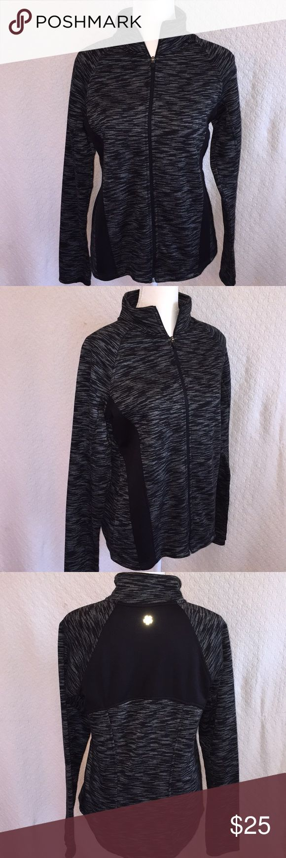 Must see! Tek Gear black jacket. NWOT Must see! Tek Gear bright coral jacket. New without tags. The fabric pattern is gorgeous. The shape is flattering. Nice longer length. I adore this jacket but never had the chance to wear it as I didn't lose the weight I'd hoped to. Now is your chance to own it at a great price. Also selling the same jacket in bright coral. tek gear Jackets & Coats