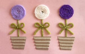Tutorial : Mother's Day Yarn Flower Greeting Card