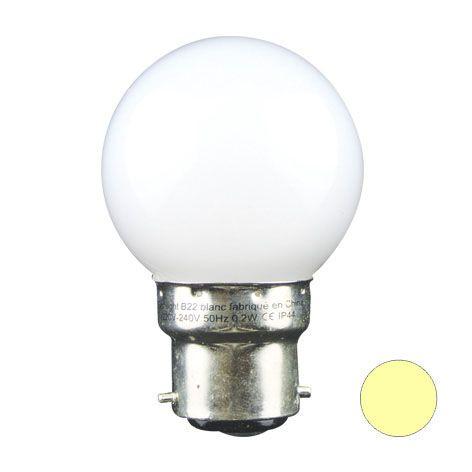 Ampoule LED SMD couleur 1,3W 30lm - BLANC CHAUD - B22