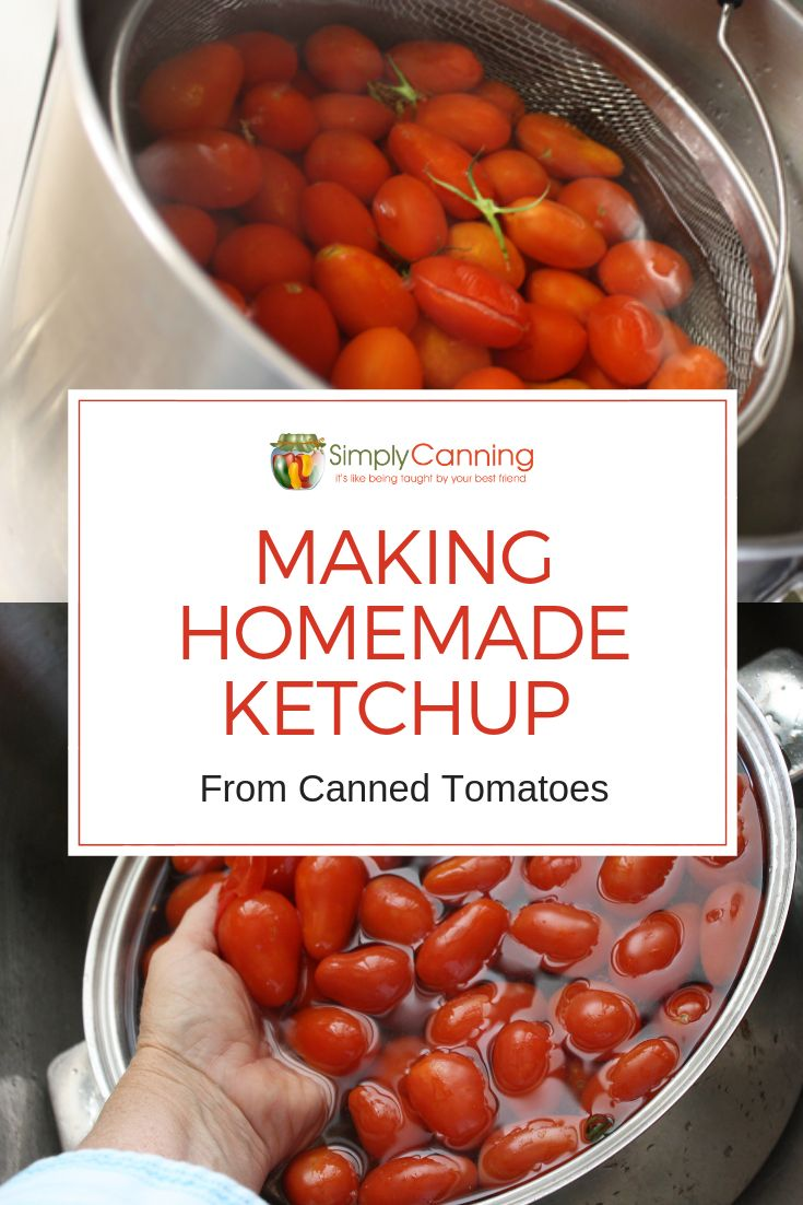 Homemade Ketchup is a great way to use up tomatoes from last year or excess from the harvest. Learn how to make your own homemade ketchup, and can it, at SimplyCanning.com