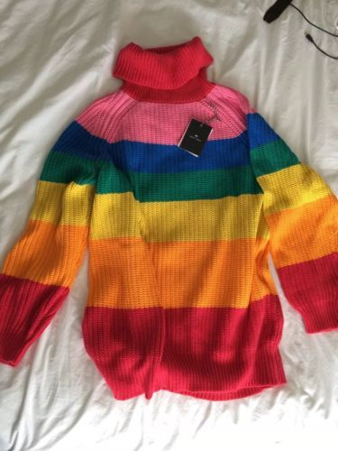 Lazy Oaf Rainbow Jumper Size L Fashion And Clothes Pinterest