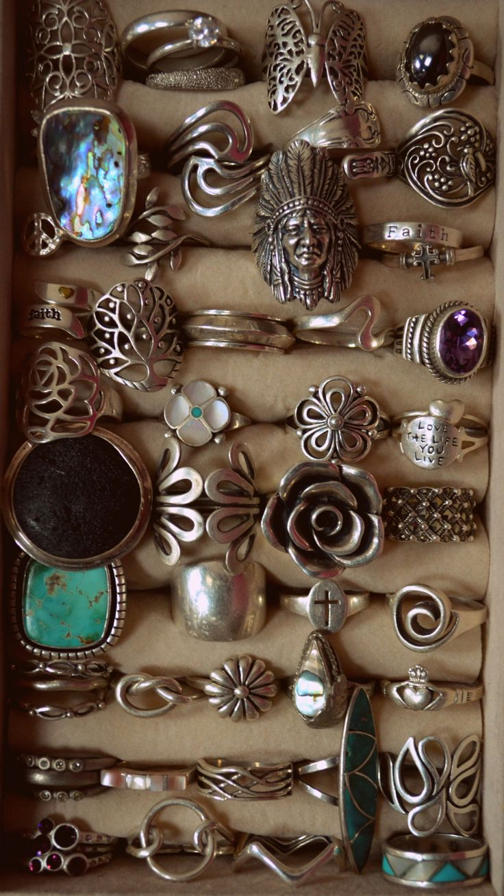 oh. my. dream.: Bling, Boho Rings, Fashion, Rings Rings, Style, Vintage Rings, Jewelry, Silver Rings