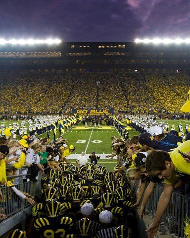 Football season is back baby! In my home state it's all about the NCAA Rivalry! For me it's go blue or go home! We cheer our lungs out at the University of Michigan stadium, or as we know it, The Big House!