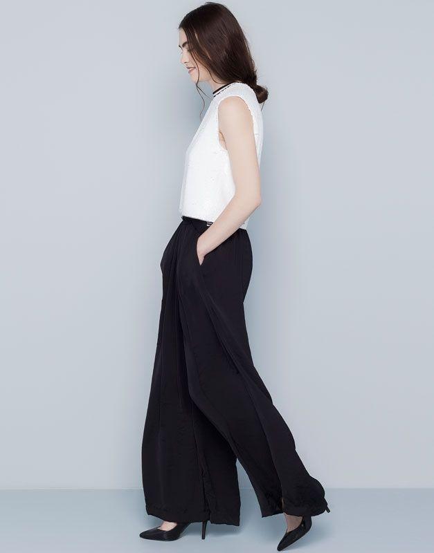 Resultado de imagen para tendencia pantalon ancho