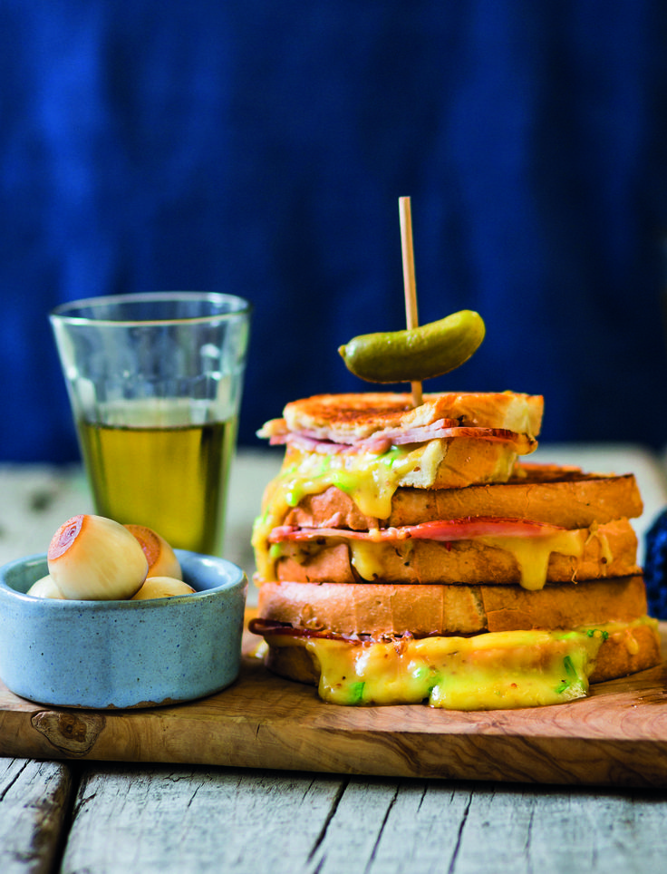 Croque monsieur! You'll never look at ham & cheese sandwiches the same way again!