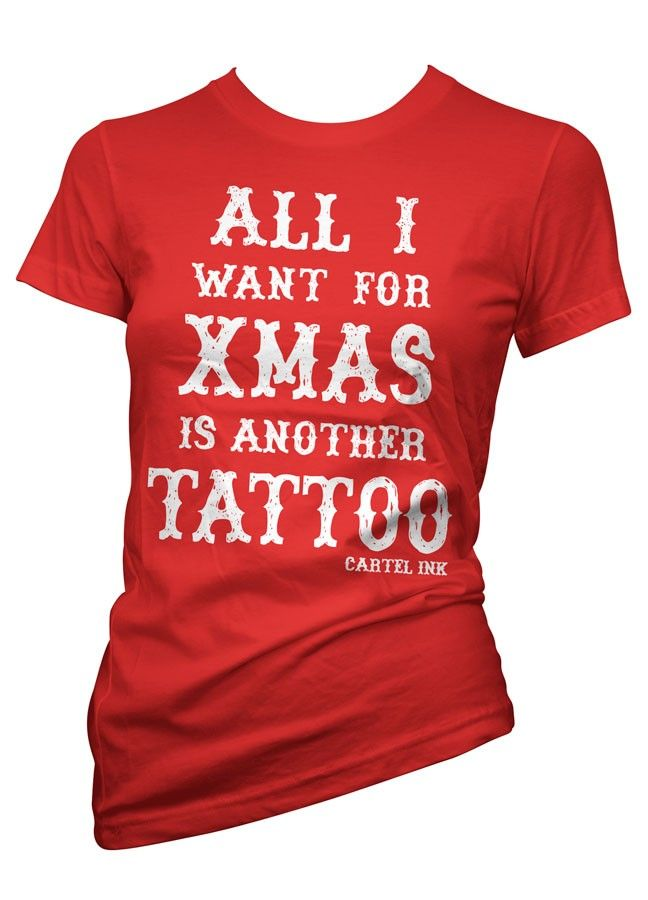 All I Want for Christmas Women's Tee by Cartel Ink