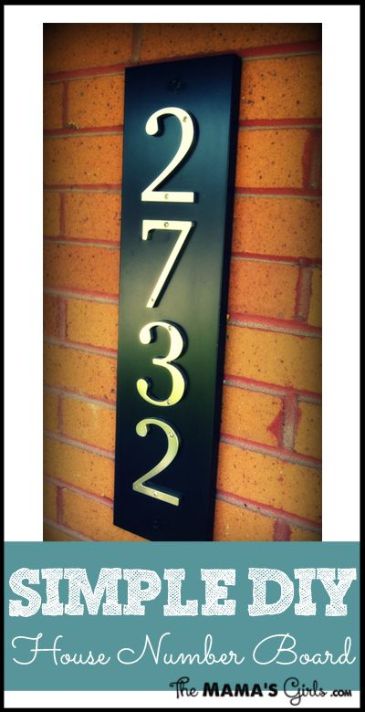Simple DIY house number board... what if we go vertical and put the house numbers on the post out front?
