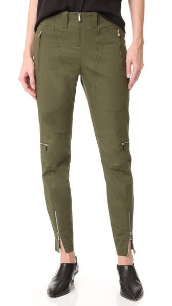 Green Barbara Bui Straight Leg Pants