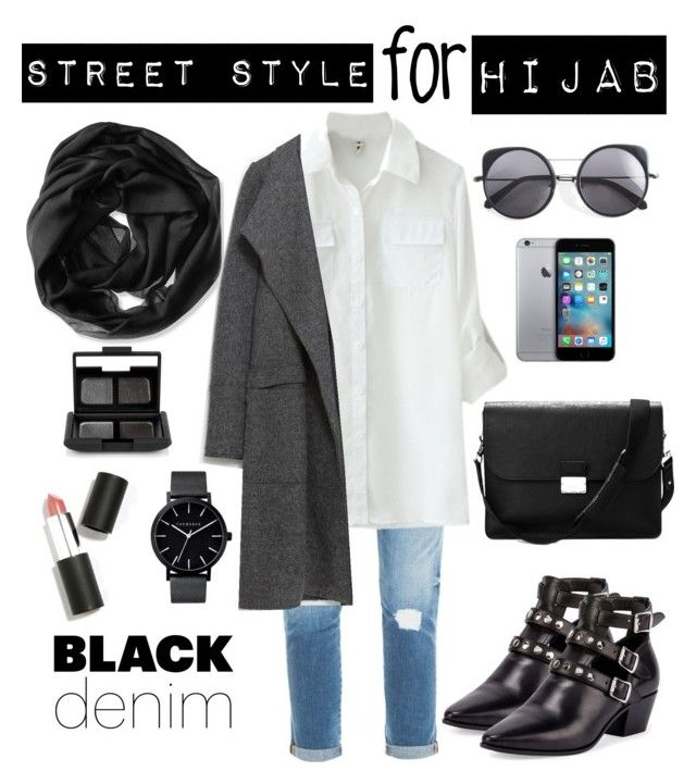 """""""hijab"""" by rabiasemx on Polyvore featuring Calvin Klein, Frame Denim, Zara, Yves Saint Laurent, Aspinal of London, The Horse, Sigma Beauty, NARS Cosmetics, Wood Wood and women's clothing"""