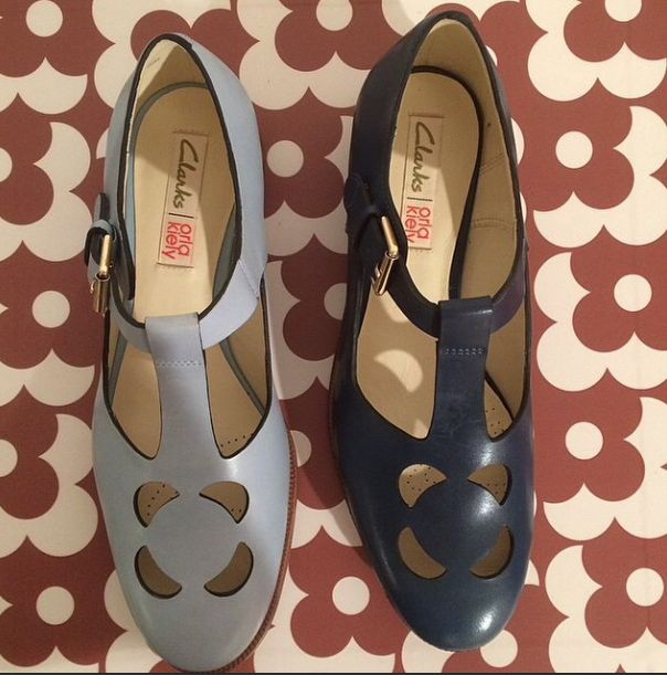 Regram @enbrogue SS15 shoe collaboration with @clarksshoes available in Jan 2015 #orlakiely