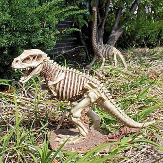 """Bad to the Bone, Jurassic T-Rex Raptor Dinosaur Statue. 21.5"""" W x 8"""" D x 14.5"""" H"""