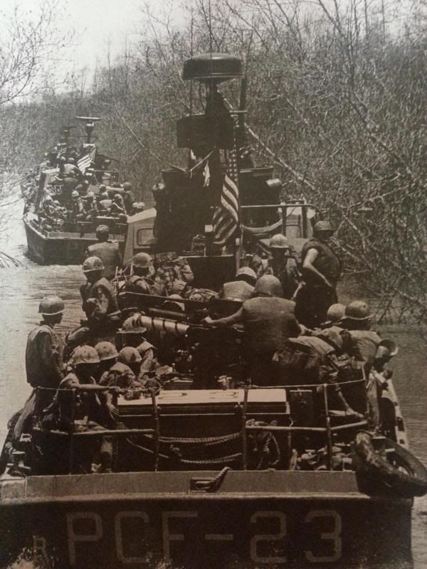 US Navy - Vietnam ... When you weren't on Huey's.....the brown water navy got you there!