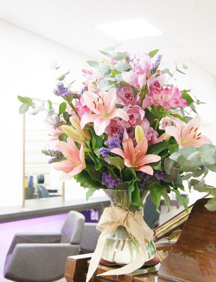 Florissimo, Shropshire. Give your business, venue or restaurant reception area a makeover with an elegant floral display. (£45, as at 2016, vase loaned)