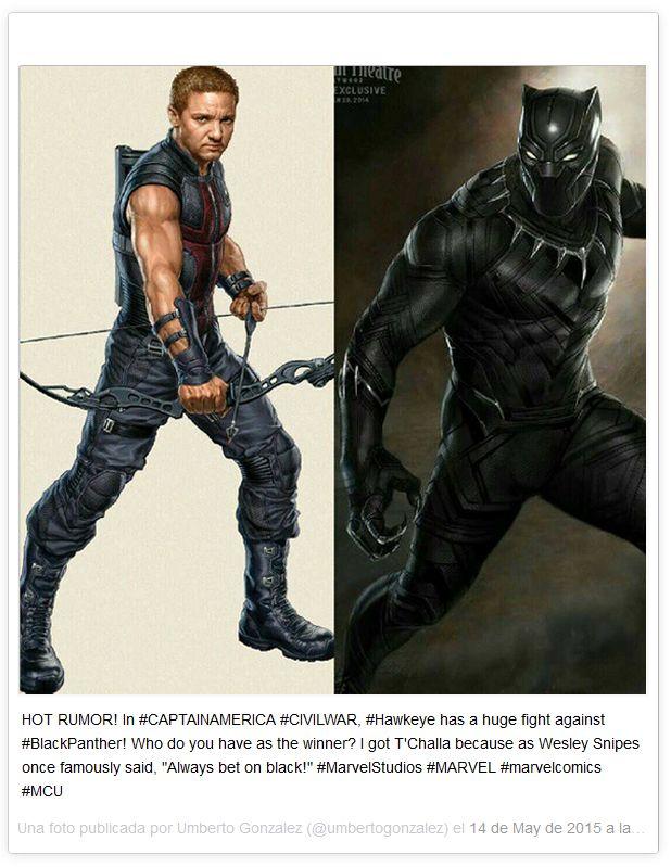 'Capitán América Civil War': Posible enfrentamiento entre Ojo de Halcón y Pantera Negra - Fotogramas