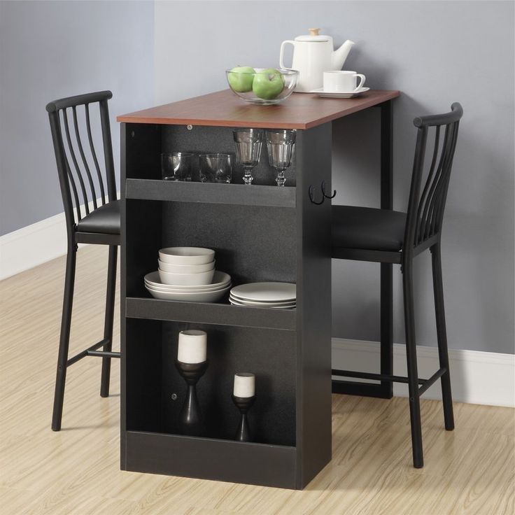 Find Efficiency Apartments: B00hv7z11s Dorel Living Dining Set Breakfast Nook Counter