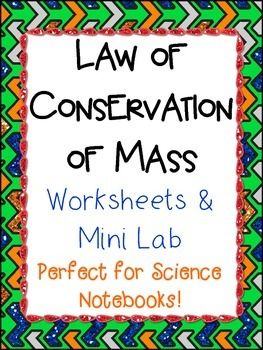 Teaching the law of conservation of mass to young students can be challenging. With these highly modeled worksheets, your students can understand the material better! There is also a sheet for a mini investigation where students will use pan balances to measure the mass of a box containing small items.