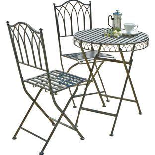 Buy Versailles Bistro Garden Set - Steel at Argos.co.uk, visit Argos.co.uk to shop online for Garden table and chair sets