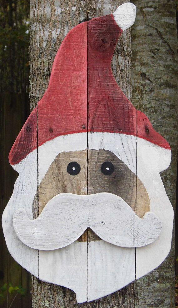 Reclaimed Pallet Santa Door Hanger by DixonandDad on Etsy