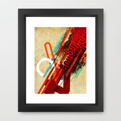 Chaos is my name Framed Art Print by BerkKIZILAY - $42.00