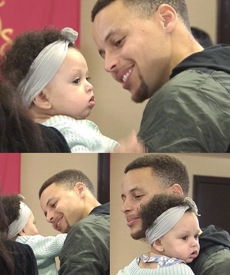 Baby Ryan and dad Steph Curry.❤️